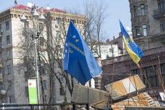 Barykady w Kijów Zdjęcie Royalty Free