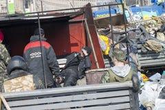 Barykady w Kijów Fotografia Stock