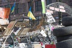 Barykady w Kijów Obrazy Stock
