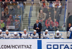 Barys team bench Royalty Free Stock Images