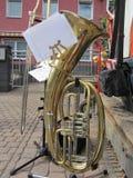 Baryton- horn Fotografering för Bildbyråer