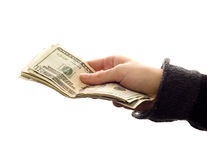 Barzahlungen Stockfoto