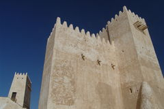 Barzan Towers. The two Barzan Towers of the fortress at Umm Salal Mohammed, Qatar Royalty Free Stock Images