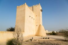 Barzan watchtower. Ancient Arabian fortification, Qatar. Middle East. Persian Gulf. royalty free stock photo