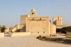 Barzan wieże obserwacyjne i Stary meczet, Umm Salal Mohammed fort zdjęcie stock