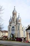 Barzava village church. Barzava village romania old church landmark architecture Stock Photos