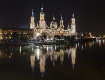 basÃlica De Nuestra señora del Pilar w Zaragoza, Hiszpania zdjęcie stock