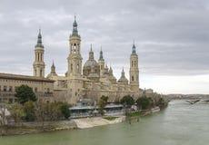 BasÃlica DE Nuestra Señora del Pilar in Zaragoza, Spanje Stock Fotografie