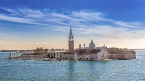 BasÃlica San Giorgio em Veneza fotografia de stock