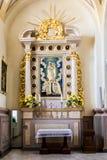 Basílica, arquitetura e interiores de Aglona Fotografia de Stock Royalty Free