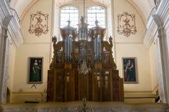 Basílica, arquitetura e interiores de Aglona Imagem de Stock