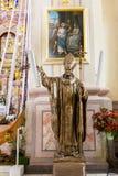 Basílica, arquitetura e interiores de Aglona Imagem de Stock Royalty Free