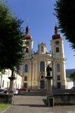Basílica barroca de la Virgen María del Visitation, lugar del peregrinaje, Hejnice, República Checa Imágenes de archivo libres de regalías