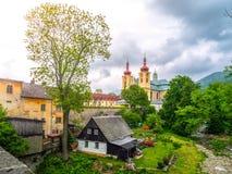 Basílica barroca del Visitation de la Virgen María bendecida en Hejnice, República Checa Fotografía de archivo