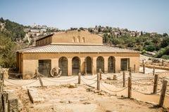 Basílica bizantina en el Shiloh bíblico, Israel Fotos de archivo libres de regalías