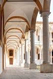 Basílica con la columnata para la impresión Foto de archivo