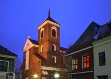 Basílica da catedral de St Peter e de St Paul em Kaunas lithuania imagens de stock