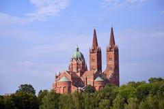 Basílica da catedral de St Peter em Djakovo, Croácia imagem de stock