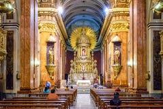 Basílica da catedral do interior de Salta - Salta, Argentina imagens de stock