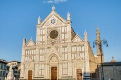 A basílica da cruz santamente em Florença, Italy Fotografia de Stock Royalty Free