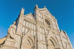 A basílica da cruz santamente em Florença, Italy Foto de Stock