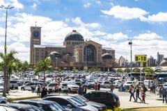 Basílica de Aparecida - santuário nacional imagem de stock