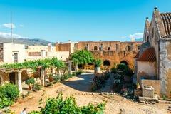Basílica de Arkadi Monastery na Creta, Grécia foto de stock royalty free