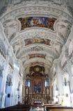 Basílica de Benedicto del santo, abadía de Benediktbeuern, Alemania Imagen de archivo