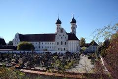 Basílica de Benedicto del santo, abadía de Benediktbeuern, Alemania Fotos de archivo libres de regalías