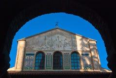 Basílica de Euphrasian em Porec, Istria, Croatia Imagem de Stock