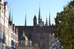 Basílica de Gdansk Fotografía de archivo