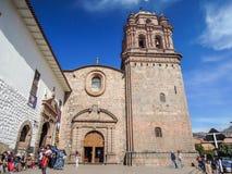 Basílica de la catedral de la suposición de la Virgen en Cusco, Perú Fotos de archivo