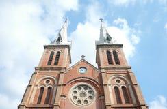 Basílica de la catedral de Notre-Dame de Saigon Fotografía de archivo