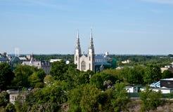 Basílica de la catedral de Notre Dame en Ottawa, Canadá Foto de archivo libre de regalías