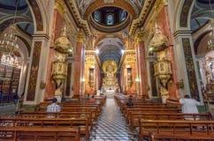 Basílica de la catedral del interior de Salta - Salta, la Argentina fotografía de archivo
