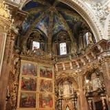 Basílica de la suposición de nuestra señora de la catedral o de Valencia del ` s de Valencia Saint Mary, interior Imágenes de archivo libres de regalías