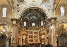 Basílica de la suposición de nuestra señora del interior de Valencia, España Imagen de archivo