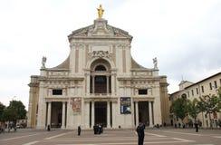 Basílica de los ángelus del degli de Santa Maria, Assisi Imagen de archivo libre de regalías