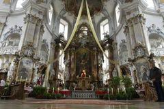 Basílica de los catorce ayudantes santos, Alemania Imagenes de archivo