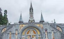 Bas?lica de Lourdes Our Lady de Lourdes Immaculate Conception Chapel France foto de stock