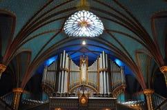 Basílica de Montreal Notre Dame foto de stock