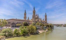 Basílica de nossa senhora da coluna fotos de stock royalty free