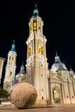 Basílica de nossa senhora da coluna fotografia de stock