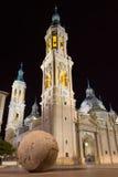 Basílica de nossa senhora da coluna imagem de stock