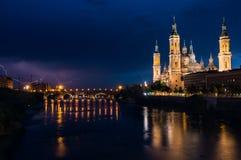 Basílica de nossa senhora da coluna Imagem de Stock Royalty Free