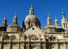 Basílica de nossa senhora da coluna em Zaragoza foto de stock