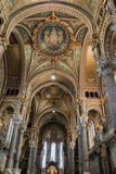 Basílica de Notre-Dame de Fourvière Lyon Francia Foto de archivo libre de regalías