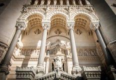 Basílica de Notre Dame de Fourviere, Francia. Imagen de archivo libre de regalías