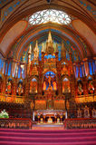 Basílica de Notre Dame em Montreal Fotografia de Stock
