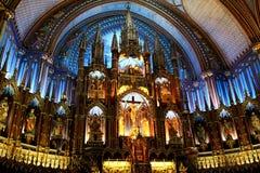 Basílica de Notre-Dame em Montreal Foto de Stock